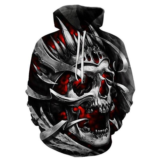 Horror Skull Hoodie Stylish Hoodies Unisex color: A|B