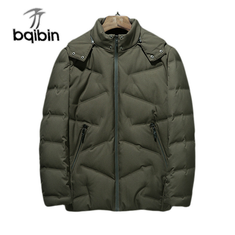 Winter Hooded 90% Duck   Down   Jackets Men Warm Thick Quality   Down     Coats   Father's Casual Winter Overcoat   Down   Parkas Male Bqb772