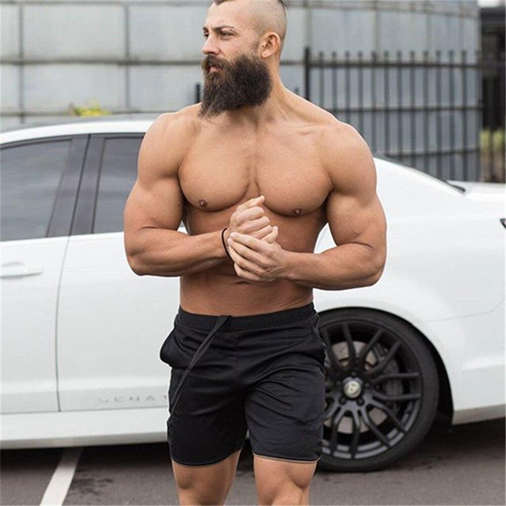 Летние мужские шорты для занятий фитнесом, быстросохнущие пляжные шорты, спортивные шорты для бега, повседневные брендовые шорты