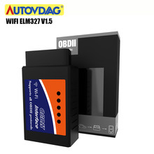 OBD2 Wifi Elm327 Bluetooth Elm327 V1.5 OBD 2 ELM 327 Obd2 Scanner Car Diagnostic Tool Interface Work On Android/IOS/PC(China)