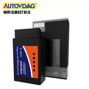 OBD2 Wifi Elm327 Bluetooth Elm327 V1.5 OBD 2 ELM 327 Obd2 Scanner Car Diagnostic Tool Interface Work On Android/IOS/PC image
