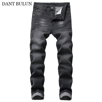 Skinny Jeans Men Spring Summer Slim Fit Denim Classic Cotton Elastic Pants Cowboy Trousers Straight