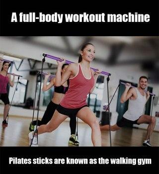 Yoga Strap Pilates Stick Exercise Elastic for gymnastics Resistance Bands Sport at home Massage Rope