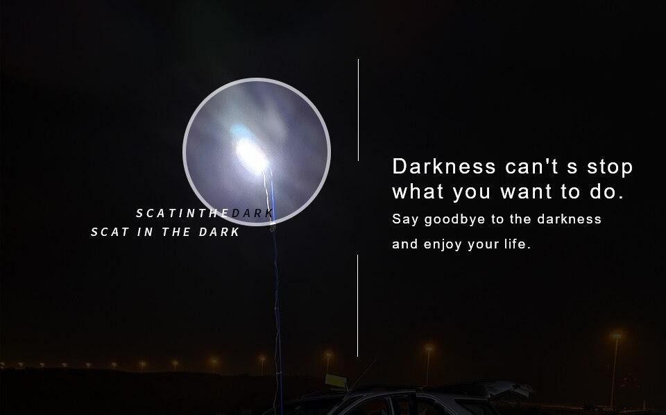Iluminação portátil 12V 2000 lumen Lâmpada LED
