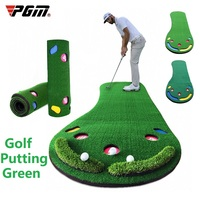 PGM Indoor Golf Putting Mini Greens Home Practice Portable Putting Trainer Office Exercise Kit Mat Hitting Pad Golf Training Aid