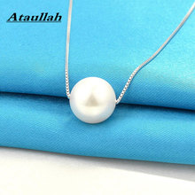 Ataullah Natural Round Freshwater Pearl Necklace Sterling Silver 925 Jewelry Pendant Necklaces Simple Design Woman Gift NW095