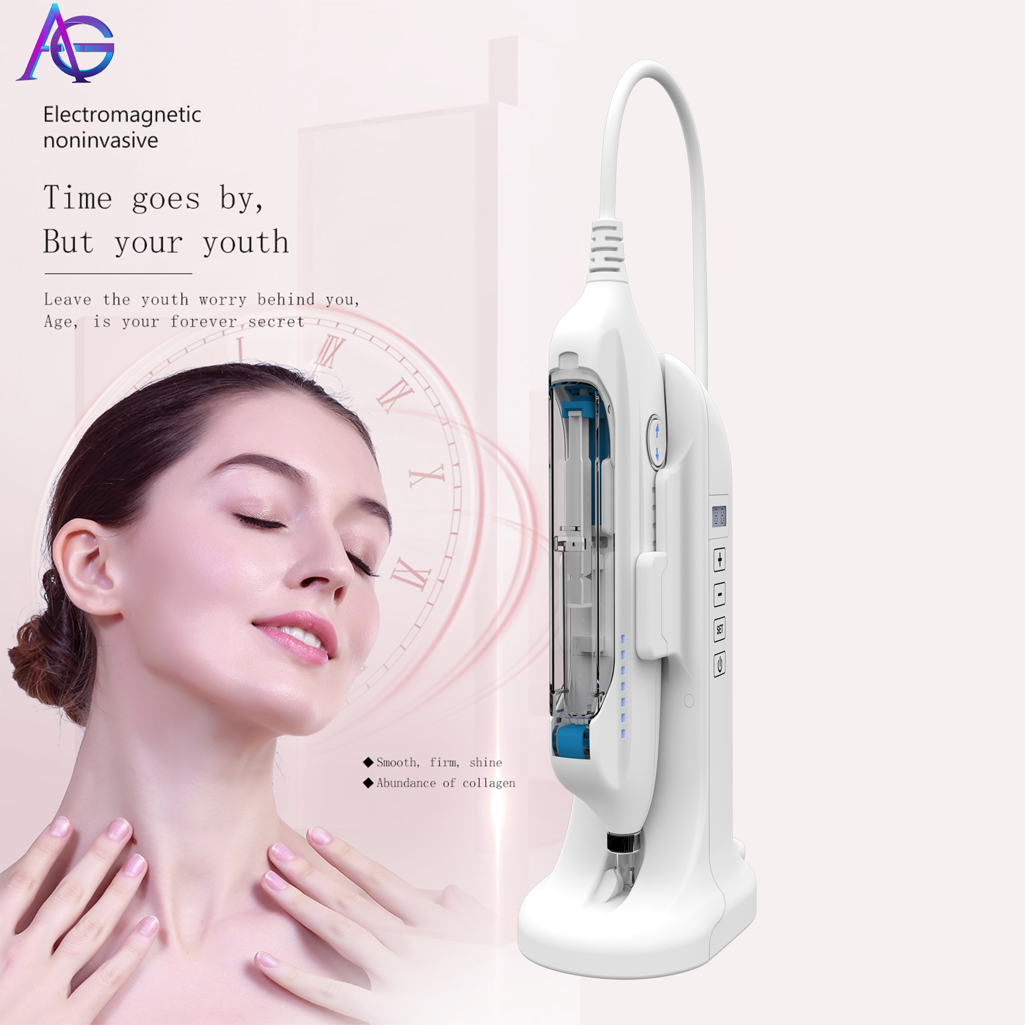 Tecnologias Nuevas 2019  Weishu Maso Needle Free Facial Lifting Injection EMS Beauty Machine Portable For Home And Salon Use