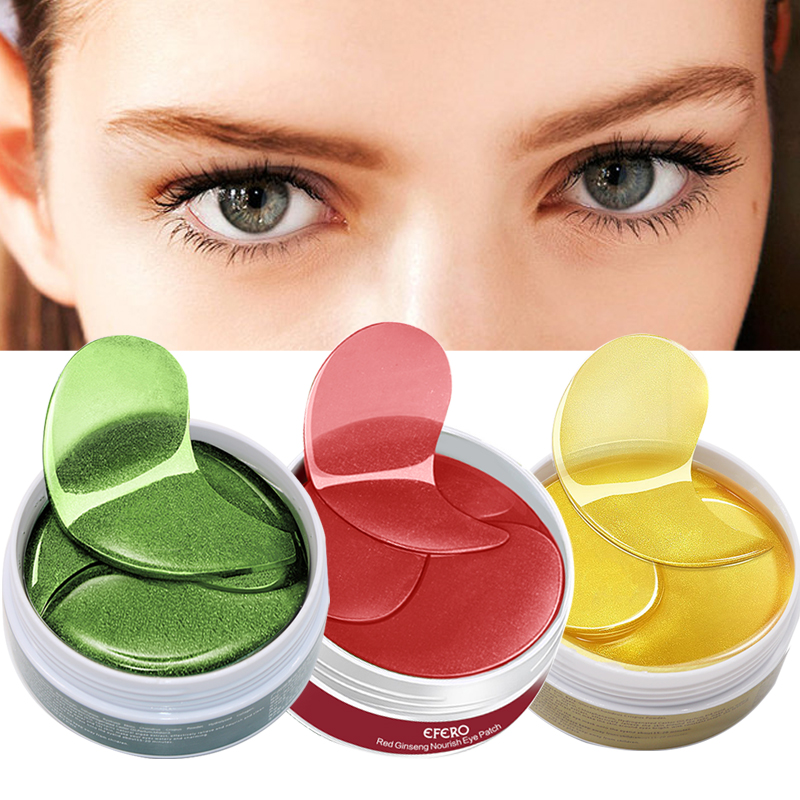60Pcs Eye Mask Anti-Rugas Colágeno Cuidados Faciais Máscaras de Olho Gel Hidratante Remover Olheiras Anti Inchaço Dos Olhos patches EFERO