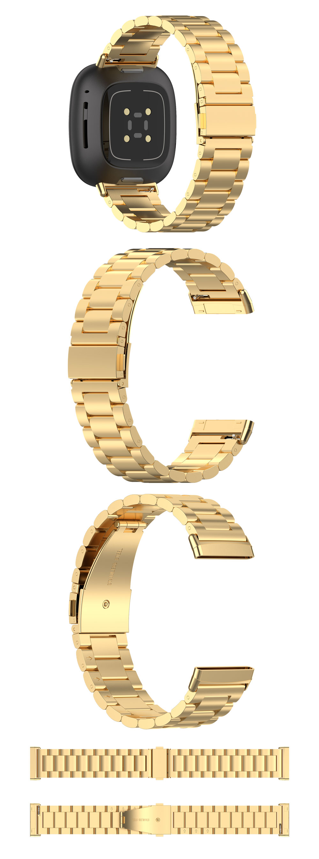 versa3 pulseiras de pulso de aço inoxidável