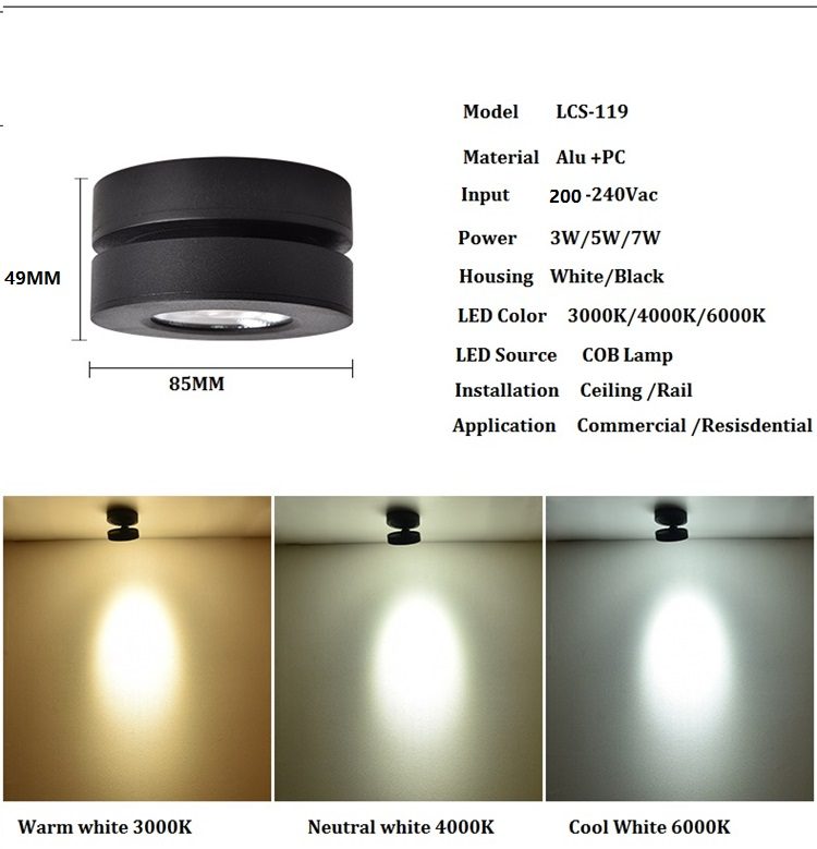 Hbbfd6ccd212b41c88e26a692b3033672T Ultra Thin LED Downlight | Surface Mount LED Lights | Foldable and 360 degree rotatable background,wall track spot light Ultra slim LED surface mounted ceiling spot lamp