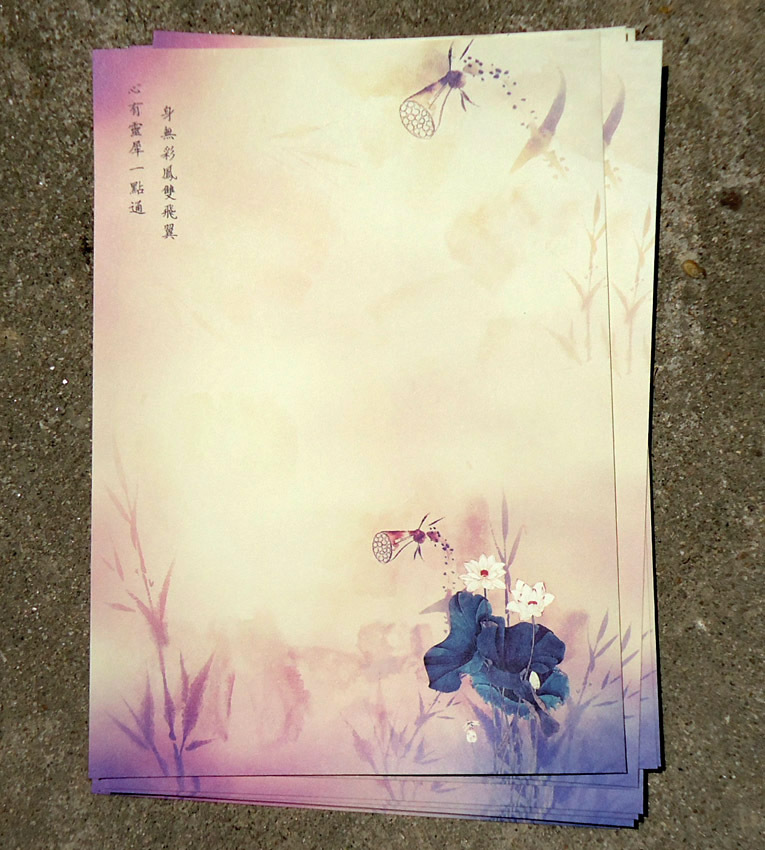 Sui Yue Fang Ancient Chinese-style Series Retro Writing Paper Qing He Reflection