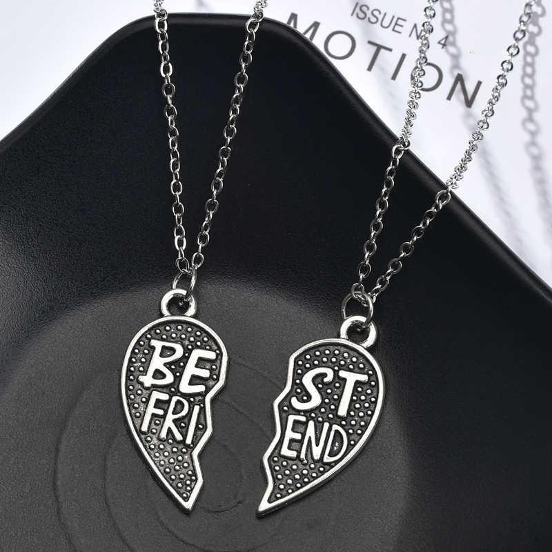 2 sztuk/zestaw serce wisiorek naszyjnik dla pary przyjaźń naszyjnik dla par kobiety mężczyźni przyjaźń boże narodzenie naszyjniki na prezenty