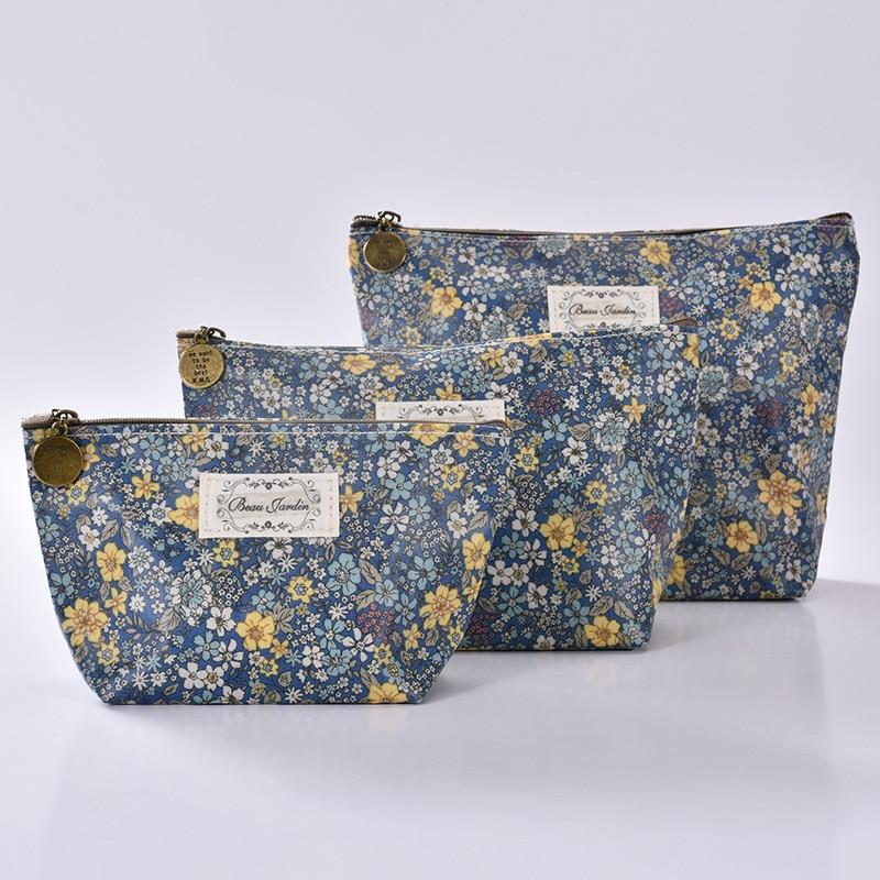 Korean Version New Art Graffiti Printed Cosmetic Bag Women Makeup Clut Bags Female Zipper Hand Bag Portable Travel Make Up Pouch