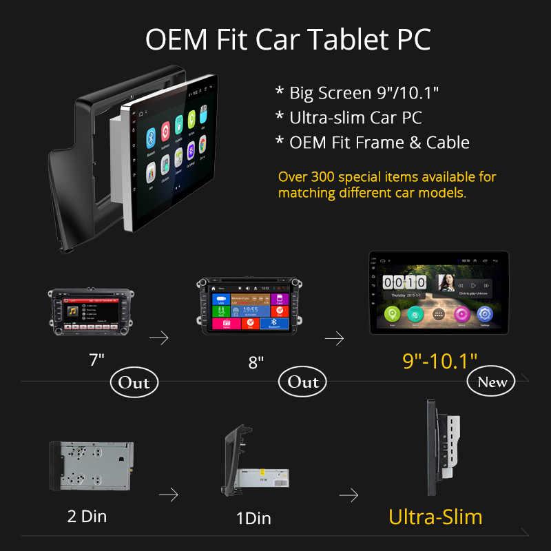 """Wan チー車の 9 """"ステレオアンドロイド 8.1 HD GPS Navi オート 1Din ラジオアウディ Q3 2013 2014- 2017 車のサポート 3 グラム WIFI の SWC Bluetooth"""
