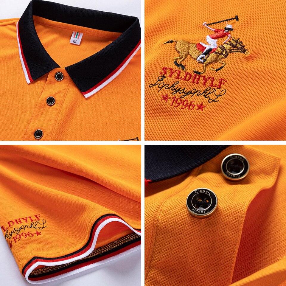 DARPHINKASA2020 Summer New Men Polo Shirt Embroidery Polo Shirt Men Casual Polo Shirt Solid Color Men Short Sleeve 6