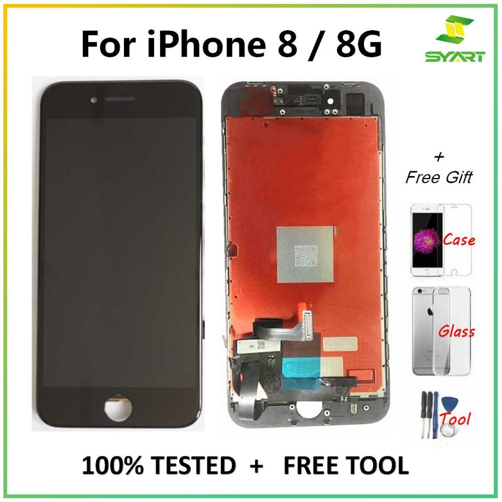 "For iPhone 8 8G 8Plus LCD Display Touch Screen Digitizer Assembly Replacement Parts + Tools For iPhone 8 Plus 5.5"" LCDs Screen