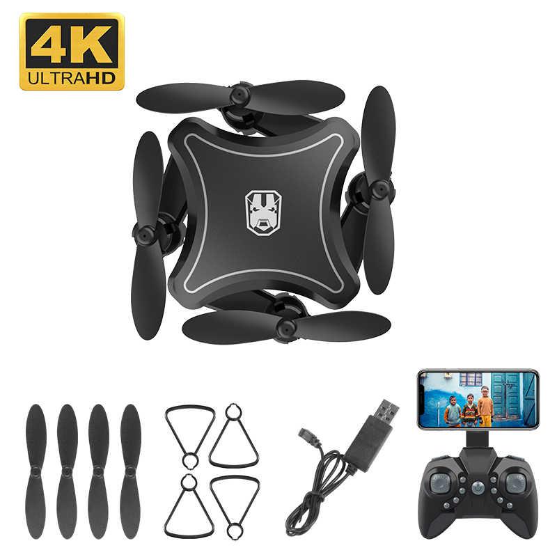 """מיני Drone עם מצלמה WiFi FPV 4K HD אחיזת גובה RC מסוק מזל """"טים מתקפל מיני Quadcopter גבוהה באיכות Dron צעצועים"""