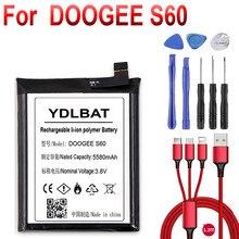 Para doogee s60 bat17m15580 & bat17s605580 substituição 5580mah peças bateria de backup para doogee s60 telefone inteligente + cabo usb kit ferramentas