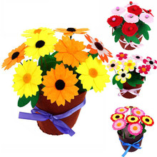 8 PCS Flower Pot Crafts Toys for Children Kids DIY Potted Plant Kindergarten Educational Montessori Teaching Aids Girls Toy
