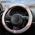 Karcle Samt Lenkrad Abdeckung D/O Typ Auto Rad Abdeckung 15 Zoll Tragen Beständig Auto Zubehör Innen Dekoration