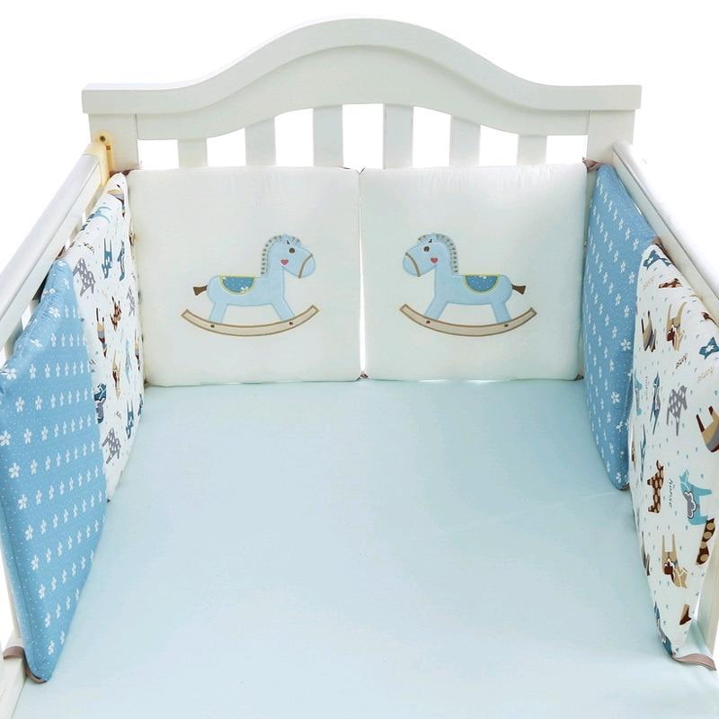 6Pcs/Set Baby Crib Bumper Thick Pillow One-piece Crib Around Cushion Cot Infant Bed Bumper Protector Pillows Newborns Room Decor