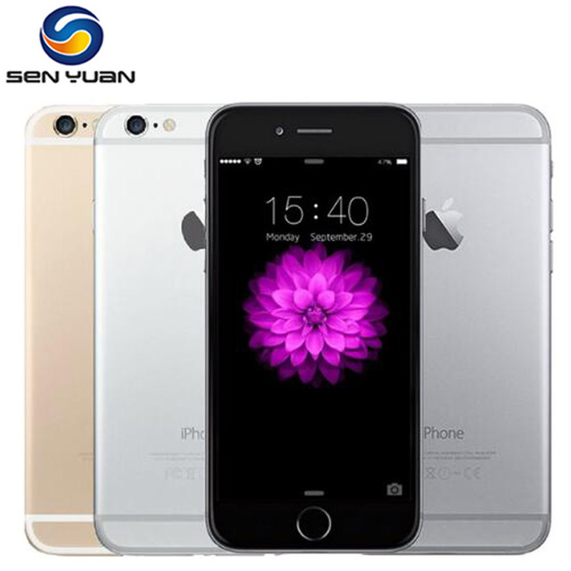 Iphone 6 Unlocked Original Apple iPhone 6 inch 4.7 LTE Mobile Phone 16GB/64GB/128GB IOS Wifi 1080P 8MP Dual Core phone