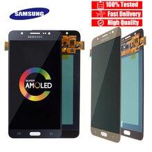 شاشة LCD أصلية 5.5 بوصة فائقة Amoled لهاتف سامسونج جلاكسي J7 2016 J710 J710F J710M J710G شاشة عرض LCD تعمل باللمس محول رقمي بديل