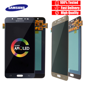 Image 1 - Original 5.5 Super Amoled LCD สำหรับ Samsung Galaxy J7 2016 J710 J710F J710M J710G จอแสดงผล LCD Touch Screen Digitizer เปลี่ยน