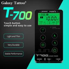 Zasilacz do tatuażu T700 z ekranem dotykowym inteligentny cyfrowy makijaż LCD podwójne zasilacze do tatuażu tanie tanio Galaxy Tattoo T700 tattoo power supply Tatuaż zasilanie Approx 600g black 100-240V 0 6A DC 19V 2 5A 15*8 5cm