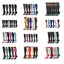 Livraison directe bas de Compression chaussettes hommes/femmes Pack unisexe chaussettes de sport Lot prévenir les varices infirmière chaussettes Football en cours d'exécution