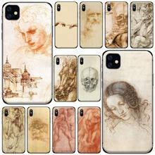 Italy Leonardo Da Vinci Phone Cases for iPhone 11 12 pro XS MAX 8 7 6 6S Plus X 5S SE 2020 XR Luxury brand shell funda coque