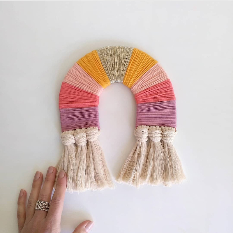 Rainbow Crafts For Kids Toys Children Room Decoration Jouet Enfant Girls Accessories Wall Hanging Toy Art And Craft Products