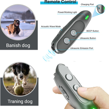 Dog Anti Barking Device Ultrasonic Handheld Dog Repellent and Training Tools with LED Flashlight Safe Small Medium Large Dogs