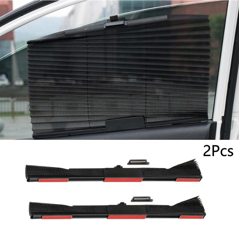 Автомобильная шторка YCCPAUTO, 2 шт., Солнцезащитная шторка с автоматическим выдвижным боковым стеклом, нейлоновая сетка, черный, серый, бежевый|Занавески для боковых окон|   | АлиЭкспресс