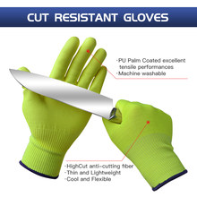 GMG Anti-Knife Security Protection Glove with HPPE Cut Resistant Safety Work Gloves Kitchen Anti-cut Protective Cut-proof Gloves