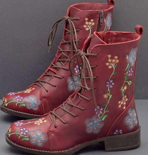 Cosplaydiy sapato de couro medieval feminino idade média tornozelo botas renascentista vitoriano bota sapatos