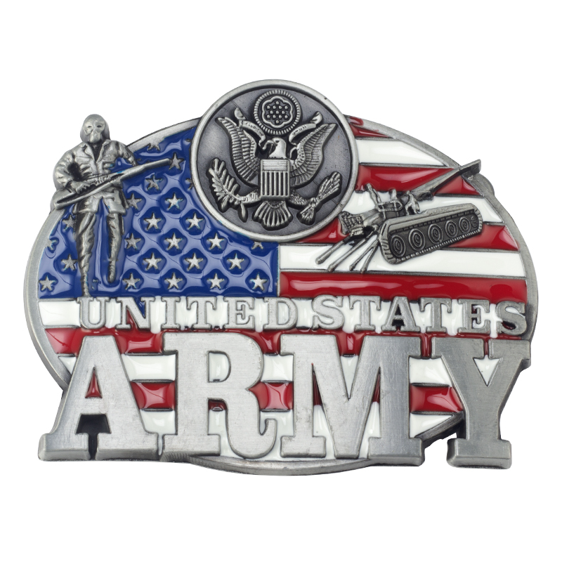 Military Theme Alloy Belt Buckle