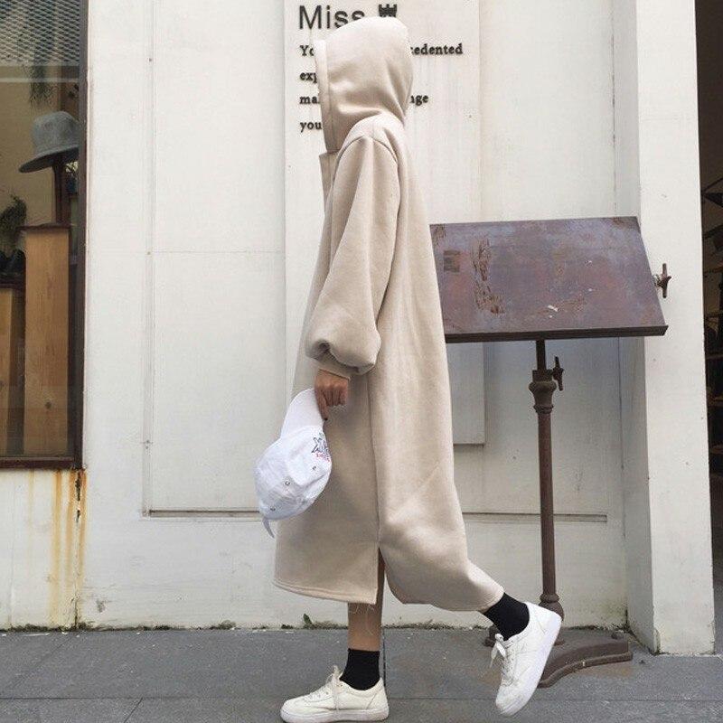 New Fashion Hoodies Femme Korean Japanese Women Sweatshirt Casual Long Sleeve Womens Solid Harajuku Loose Plus Velvet Pullovers
