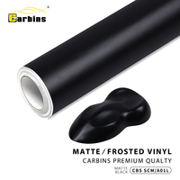 Carbins 1.52x18m Matte Black Vinyl Car wrap film Air Bubble Free Car Body Wrapping vinyl Sticker Decals