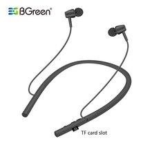 BGreen Bluetooth Sport Kopfhörer Wireless Stereo Laufen Radfahren Sport Headset Gebaut in MP3 Player Unterstützung Micro SD TF Karte