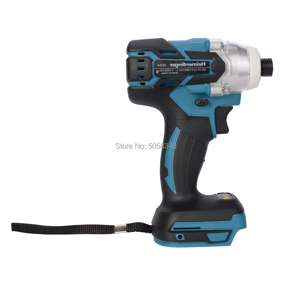 Electric Rechargeable Cordless Brushless Impact Driver Drill Without Battery And Accessories