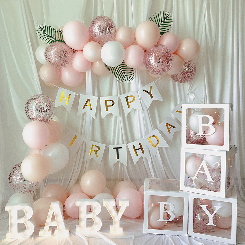 A Z Letter Name Transparent Balloon Box Baby One Blocks Boy Girl Party Gift Box Wedding Decoration Baby Shower Birthday Party Mega Promo 60b9 Cicig