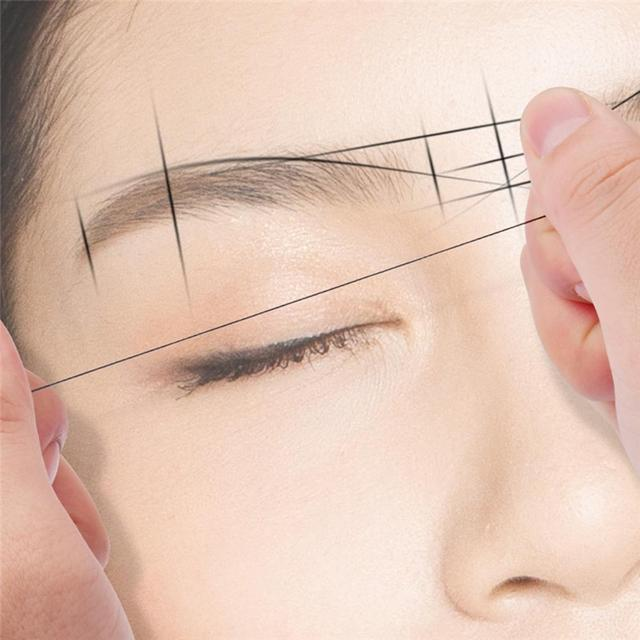 Mapping 10m Pre-ink String For Microblading Eyebow Makeup Dyeing Liners Thread Semi Permanent Positioning Eyebrow Measuring Tool 5