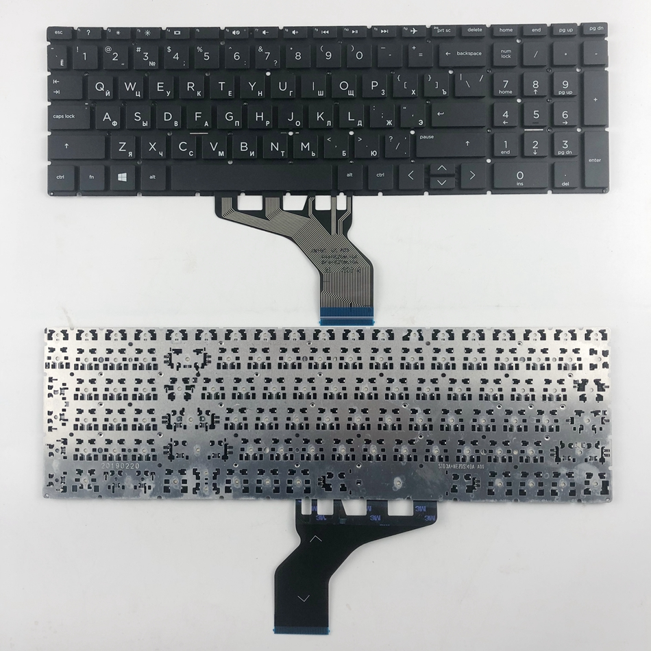 US Russian English Laptop Keyboard For HP 15-DA 15-DB 15-DX 15-DR 250 G7 255 G7 TPN-C136 TPN-C135black RU US Layout