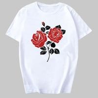 2020 New Women T shirts Casual Harajuku Flower Printed Tops Tee Summer Female T shirt Short Sleeve T shirt For Women Clothing