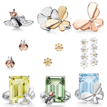 Women Ring classic seven-star ladybug with flower and butter