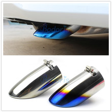 цена на Stainless Steel Exhaust Muffler Tip Tail Pipe End Car Styling For Toyota Corolla 2019 Accessories