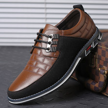 Genuine Leather Men Casual Shoes Sneakers Lace-Up Loafers Wedding Dress Business Shoes Zapatos De Hombre Big Size 38-48(China)