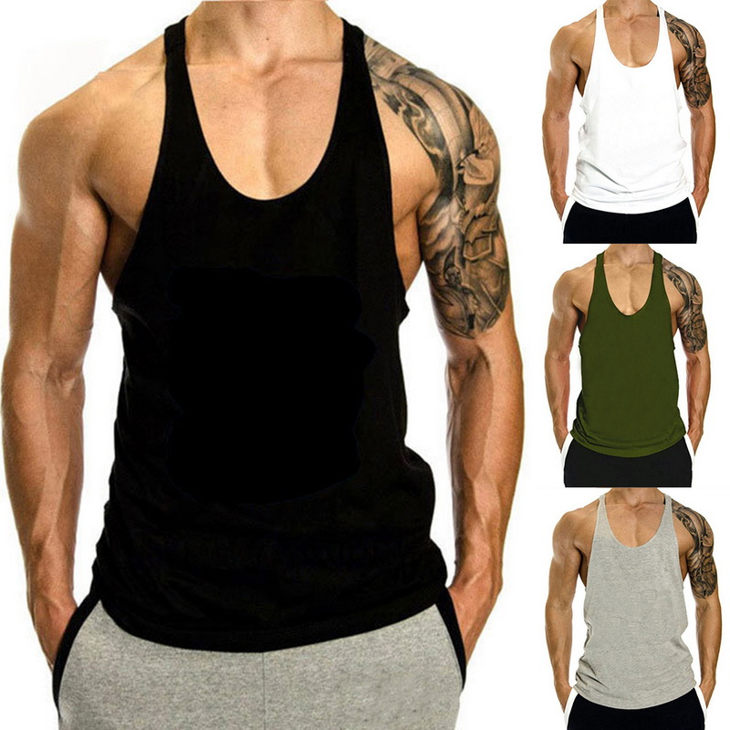 Vertvie Summer Men Fitness Gym Tank Tops Casual Breathable Running Vests Bodybuilding Sleeveless Shirts Mens Sportswear Clothing