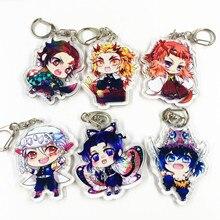 Anime Demon Slayer: Kimetsu no Yaiba Acrylic Keychain Keyring Cosplay Anime Gifts